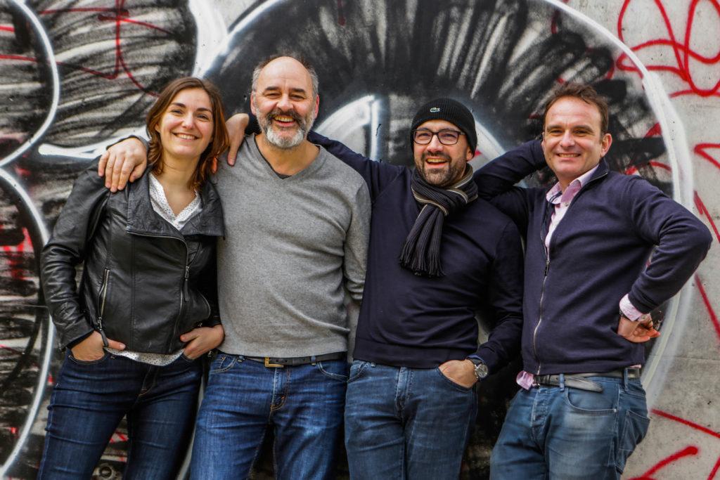 Équipe Fourgonlesite - Nathalie, François, Régis et Benoit