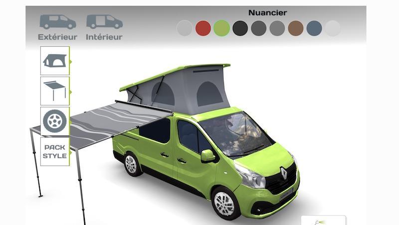 un configurateur 3d pour gl nan concept cars fourgon van. Black Bedroom Furniture Sets. Home Design Ideas