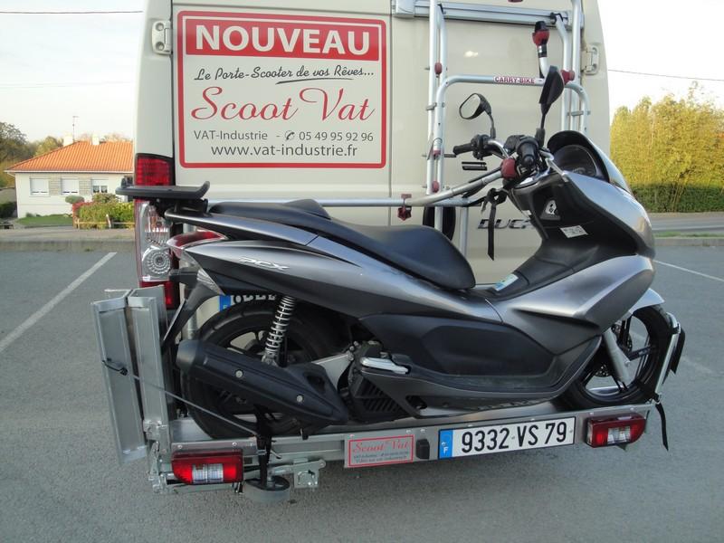 Vat lance un support de scooter malin et conomique fourgon van - Porte scooter pour fourgon ...