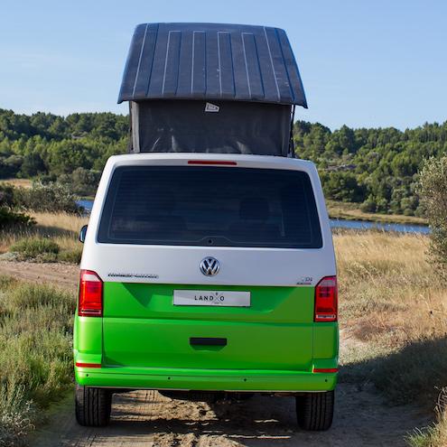 lando un toit extra plat sur vw transporter fourgon van. Black Bedroom Furniture Sets. Home Design Ideas