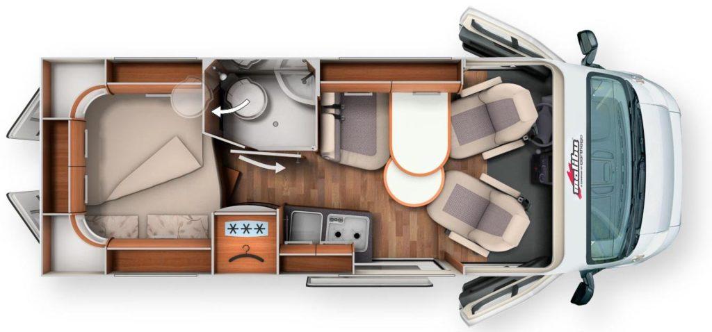 Malibu 600 DB Charming - Plan