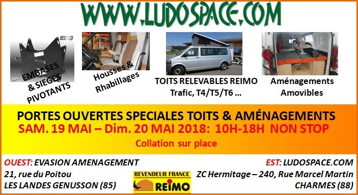 ludospace portes ouvertes sp ciales toits et am nagements 88 fourgon van. Black Bedroom Furniture Sets. Home Design Ideas
